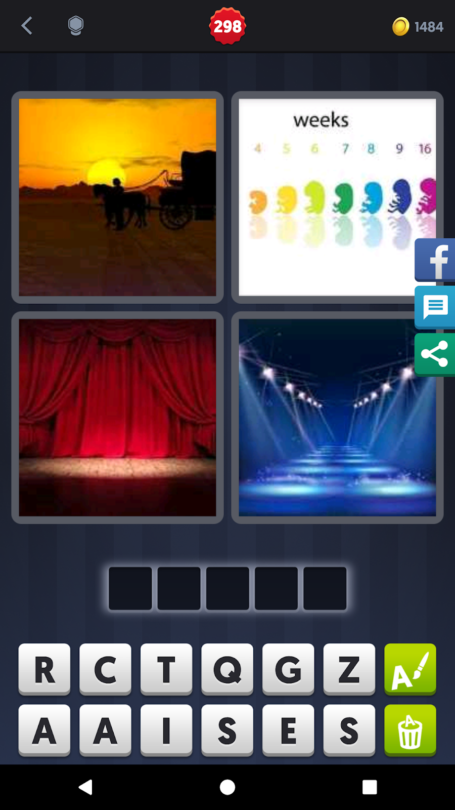 4 Pics 1 Word Answers Solutions Level 298 Stage