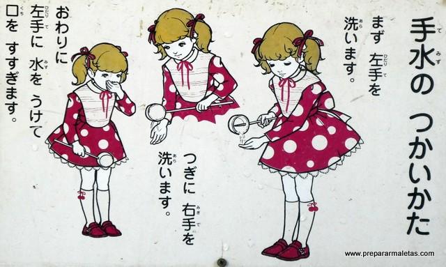 lavarse manos entrada templos japon