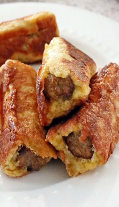 Sausage French Toast Roll-Ups