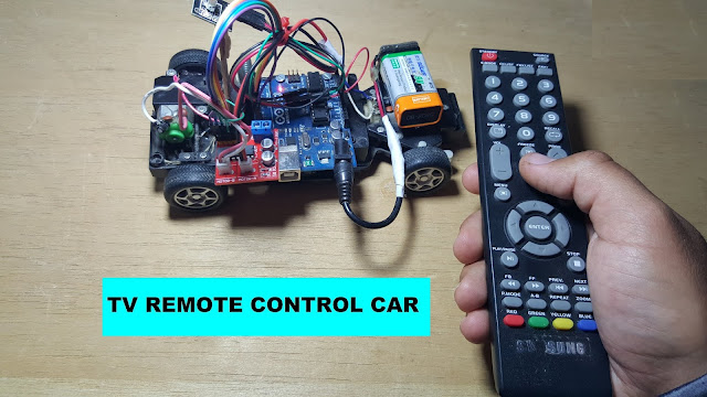 How to control Car from Tv Remote control arduino projects