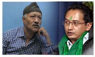 GNLF president Mann Ghisingh and Jan Andolan Party president Harka Bahadur Chhetri
