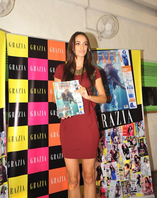 Angela Johnsson Launches the Grazia Magazine March 2013 Cover.