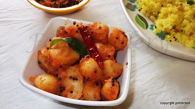 Bengaladumpa vepudu, potato fry