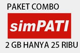 Paket data simpati Combo 2 GB & 600 Menit Tsel & 400 harga 25 ribu