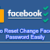 Reset Password On Facebook