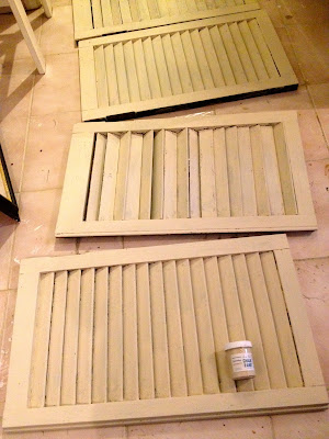 old ochre chalk paint on shutters