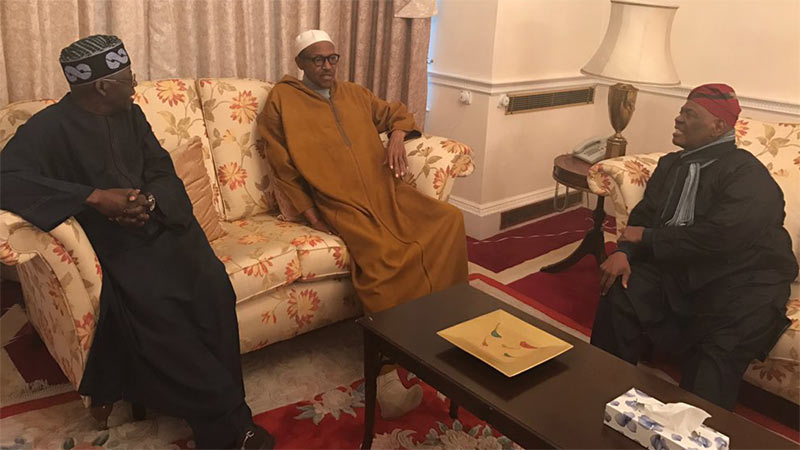 What I told Buhari in London - Tinubu