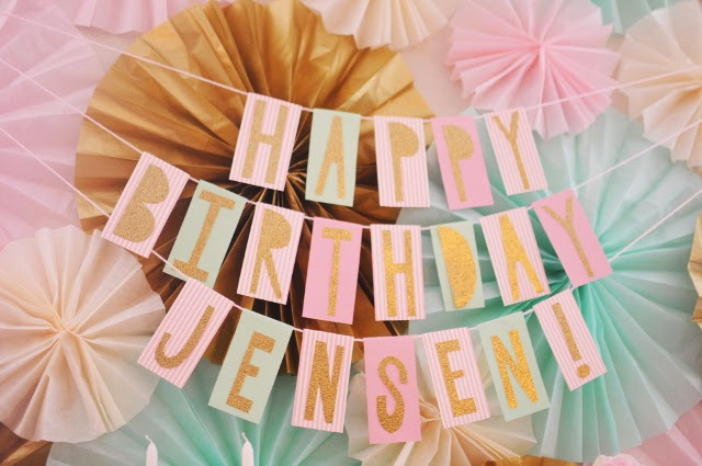 happy birthday banner from scrapbook paper, diy flower letter