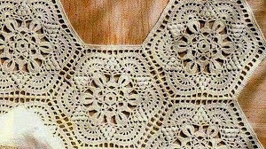 Patrones de grannys crochet con forma hexagonal