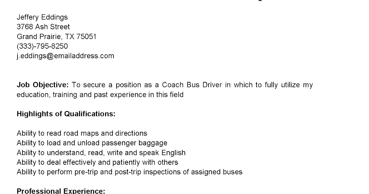 taxi driver resume sample truck driver resume cc travis truck TheJobNetwork  Bus Driver Resume examples transportation