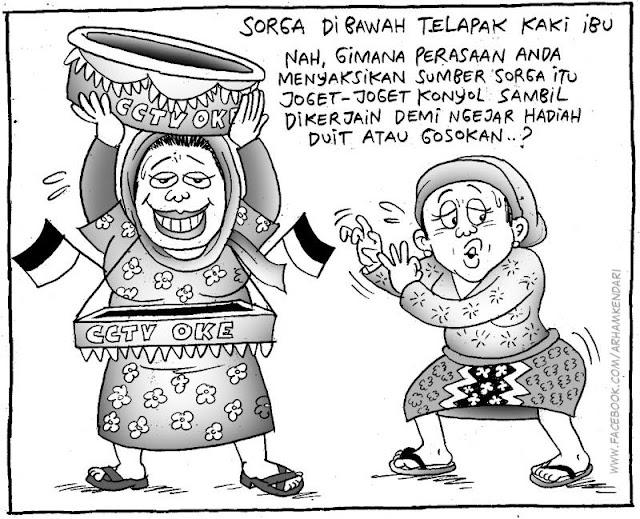 Komik Sindiran Tayangan Televisi di Indonesia Saat Ini, JLEEBB Banget!