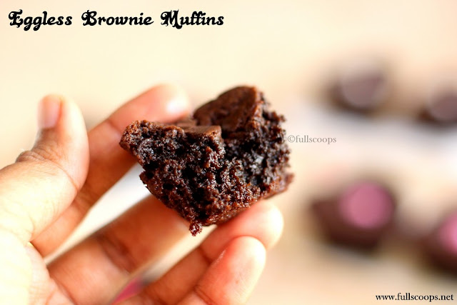 Eggless Brownie Muffins