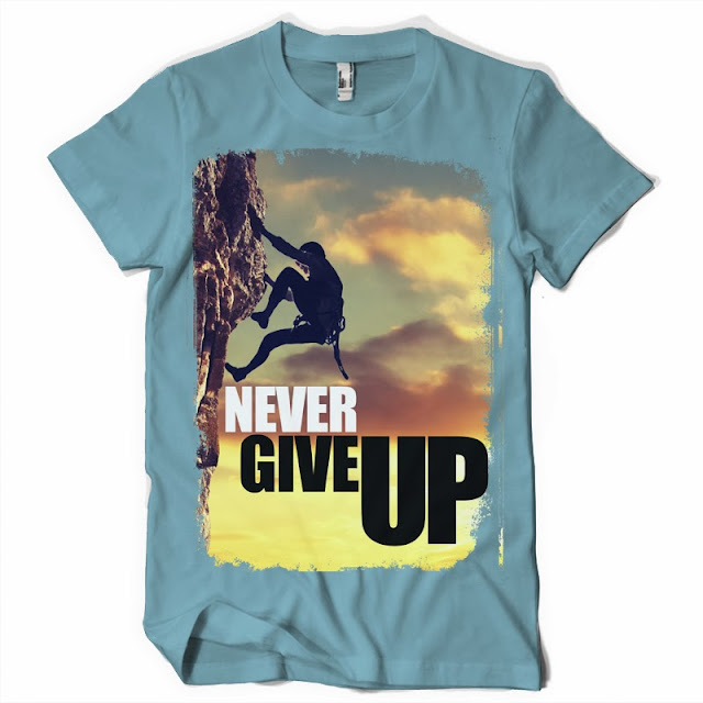 nwever give up tshirt