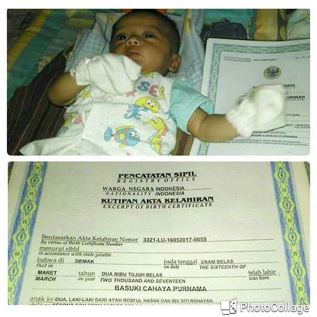 Viral Foto Akta Bayi yang Diberi Nama `Basuki Cahaya Purnama`, Ini Reaksi Netizen