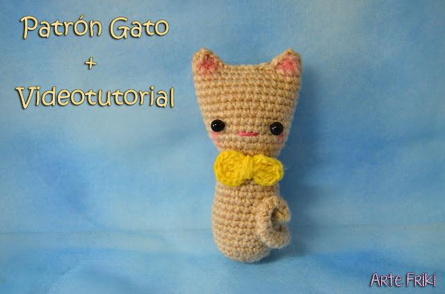 gato amigurumi patron gratis cat amigurumi free pattern videotutorial crochet ganchillo kawaii cute neko