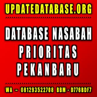 Jual Database Nasabah Pekanbaru
