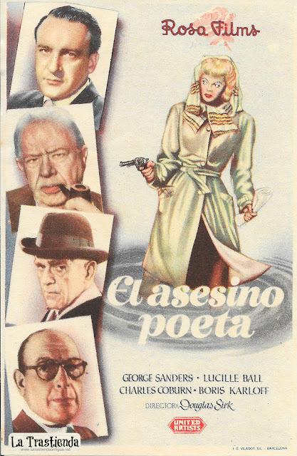 El Asesino Poeta - Programa de Cine - George Sanders - Lucille Ball - Charles Coburn - Boris Karloff