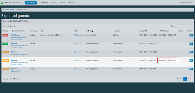 From / To date-fields have been added in the Welcome+ Add-in and Manager 2