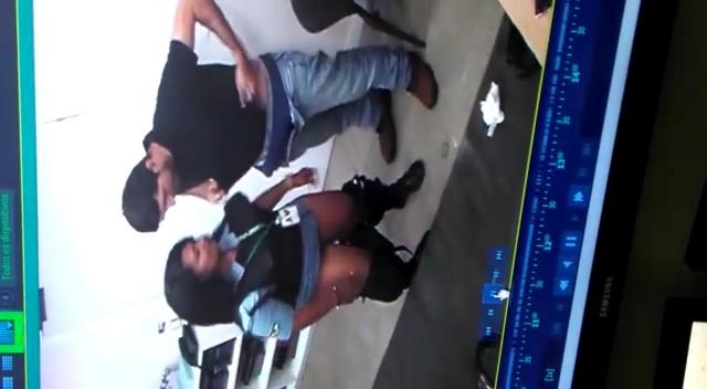 Vigilante Fudendo no Banco