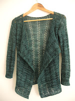simple lace cardigan knitting pattern blanket front