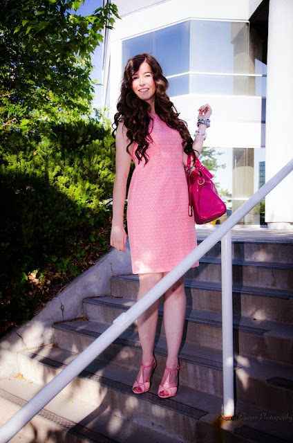 affordable fashion, Edward Eliason Photography, ami clubwear, amiclubwear, antonio melani, Aubrey Jacquard  dress, cheap heels, dillards, dress, heels, jacquard dress, nordstrom fashion, pink dress, pretty heels,