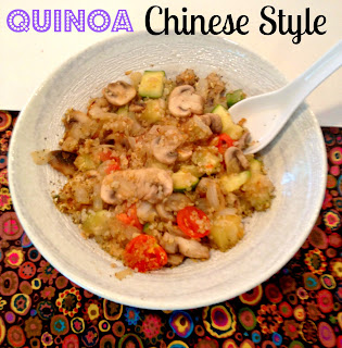 Chinese vegetables and quinoa