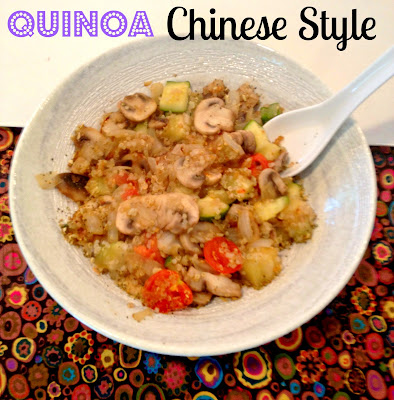 quinoa made like chou mein