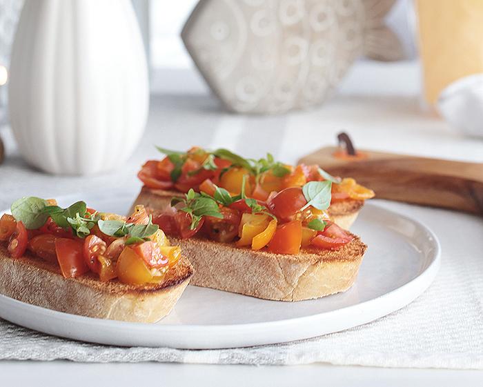 Italien Bruschetta Tomaten Basilikum