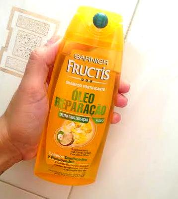 shampoo garnier oleo reparação e bom