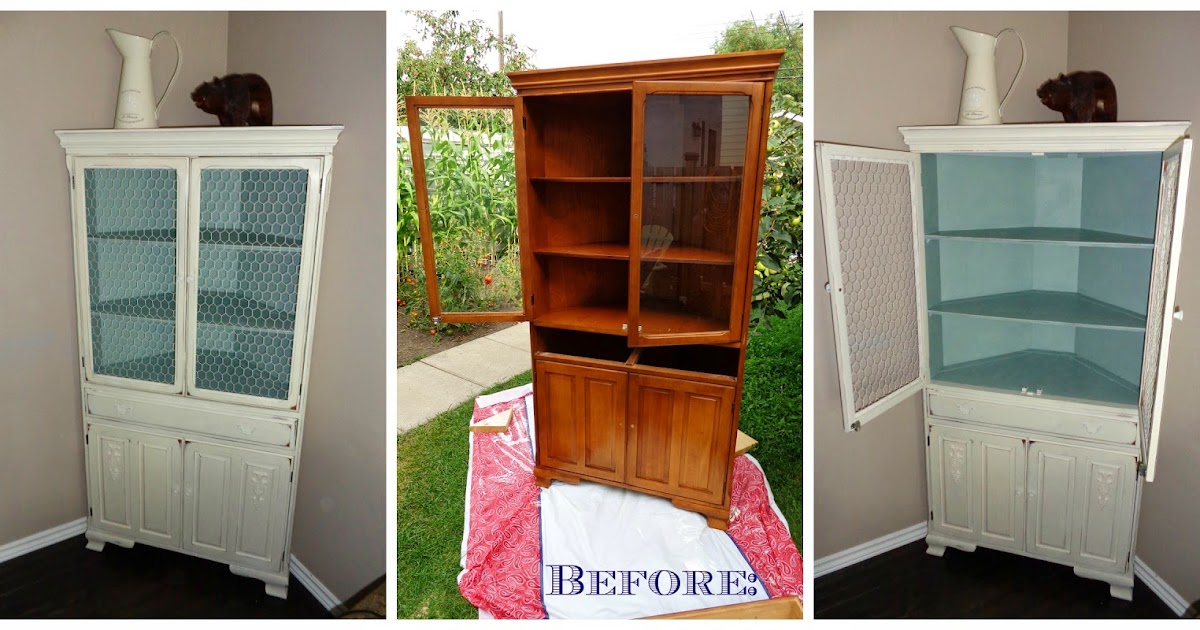 Redoem Old China Cabinet Becomes Shabby Beauty