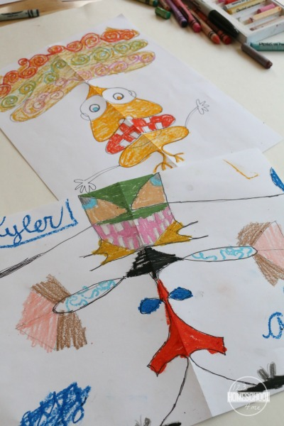name-art-project-kids-alien-2nd-grade