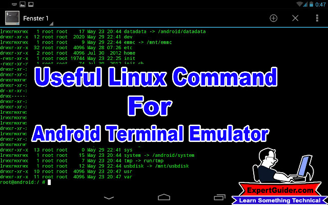 Useful Linux Command For Android Terminal Emulator