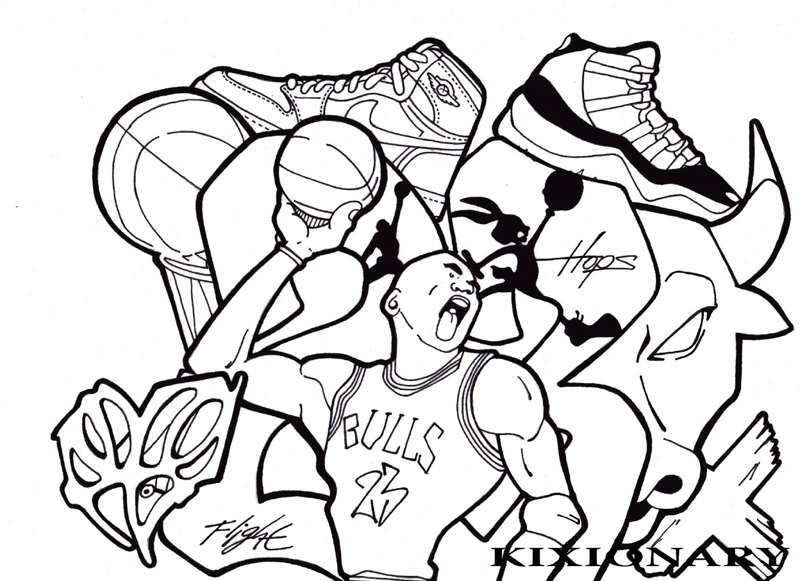 Miami Heat Coloring Page Printable Basketball Coloring Pages