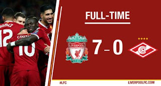 Video Gol Liverpool vs Spartak Moscow 7-0 Highlights - Liga Champions