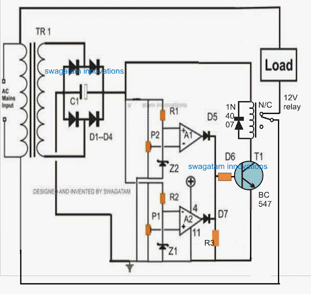 high power MCB over voltage electronic circuit