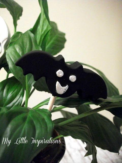 Decorazioni in gesso per Halloween - pipistrello - My Little Inspirations
