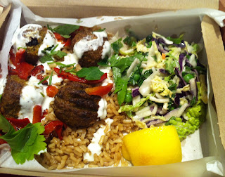 sweet potato falafel hot box