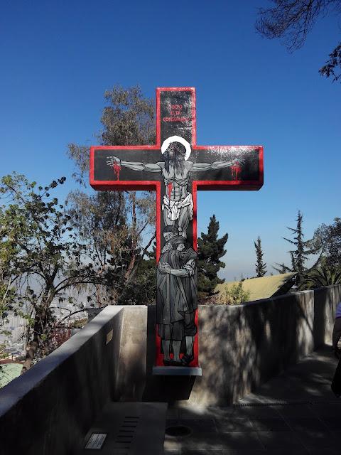 Via Crucis en el Cerro San Cristobal Santiago Chile