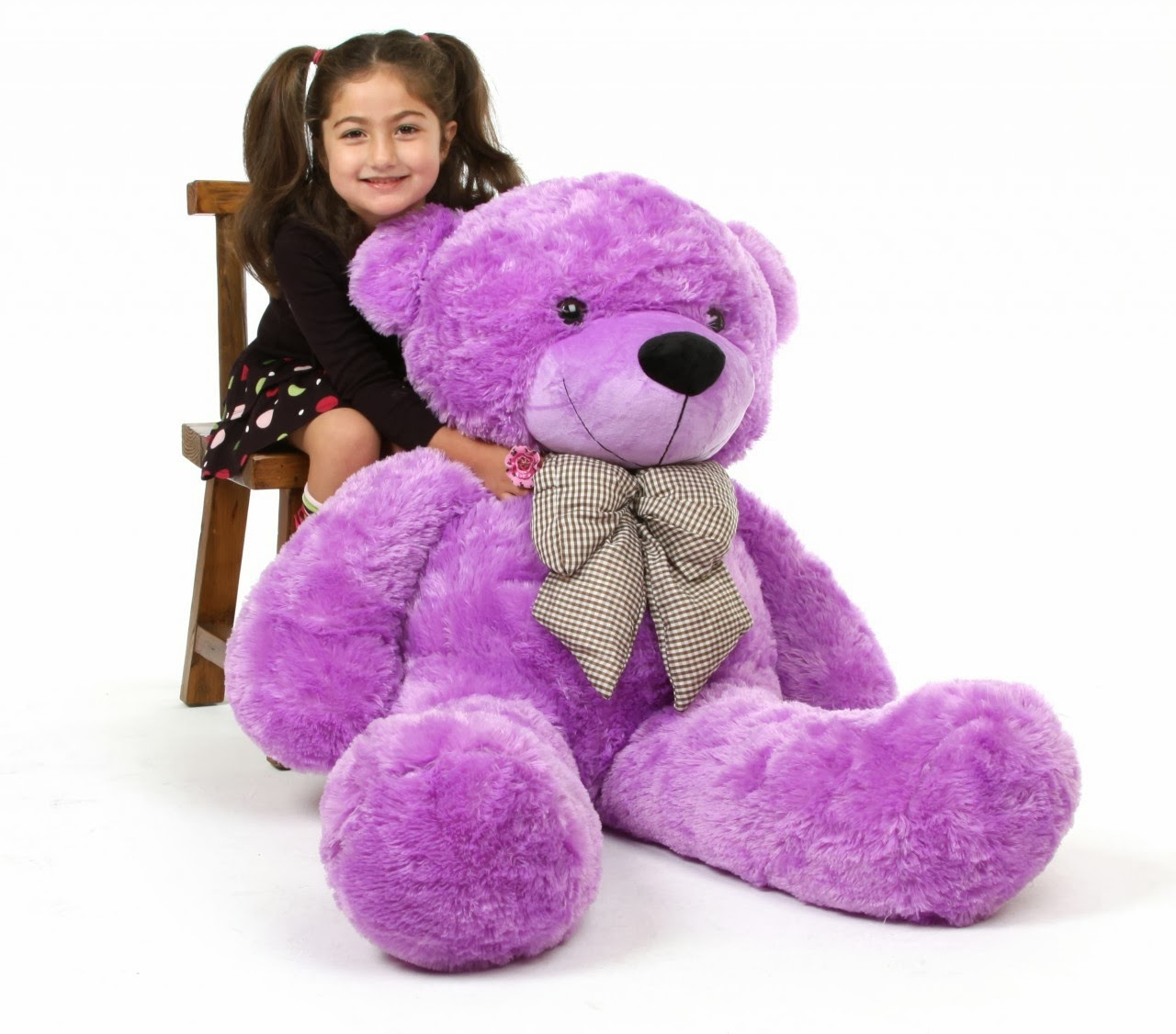 DeeDee Cuddles Purple teddy bear