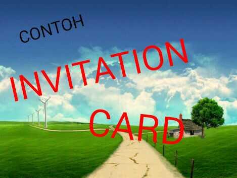 Contoh Invitation Card Kartu Undangan Dan Terjemahannya