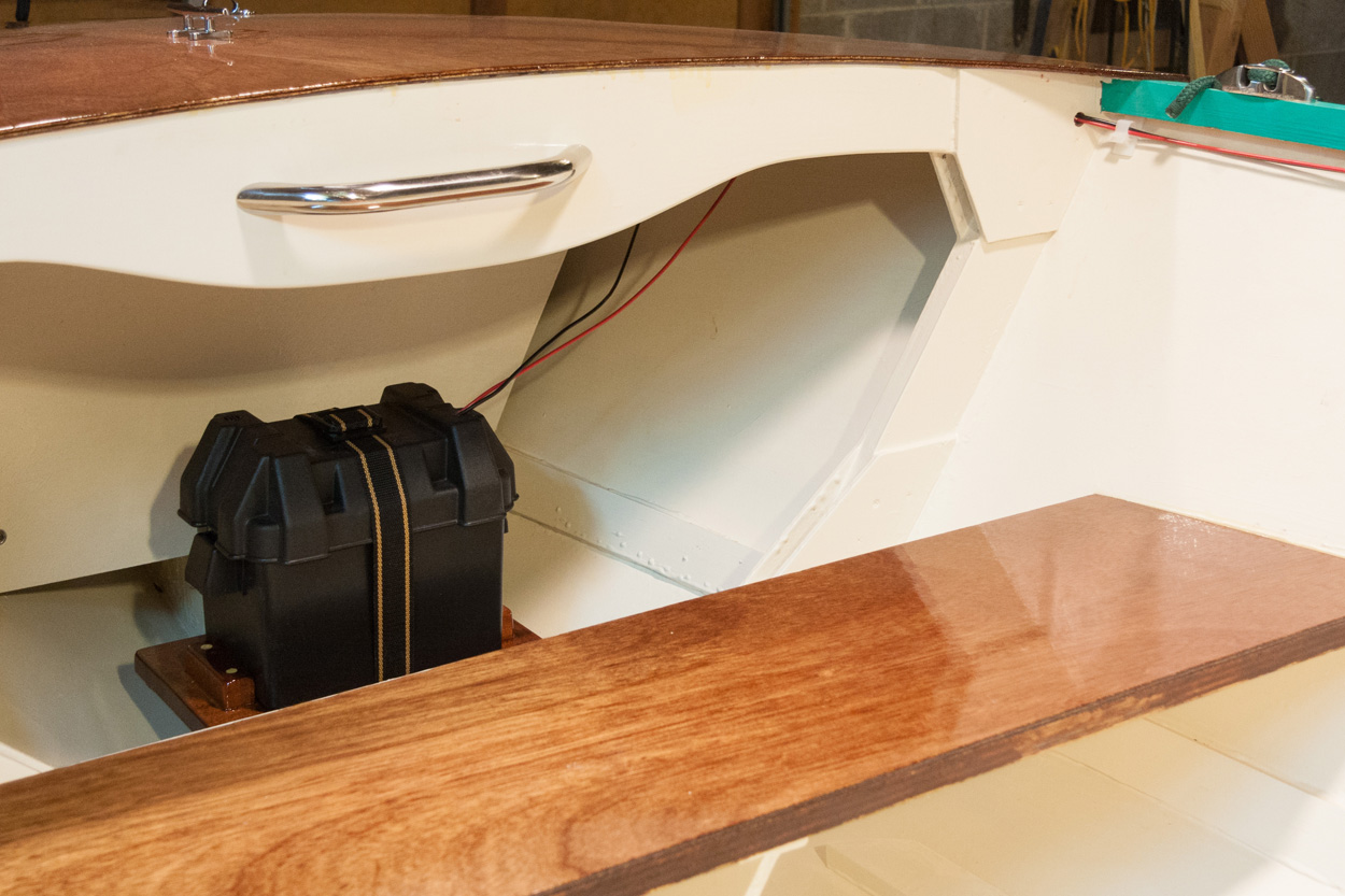 Michaels Boatbuilding Blog August 2016 Rule Mate 500 Wiring Diagram Exide Stowaway Deep Cycle Battery Mounted In An Attwood Small Box