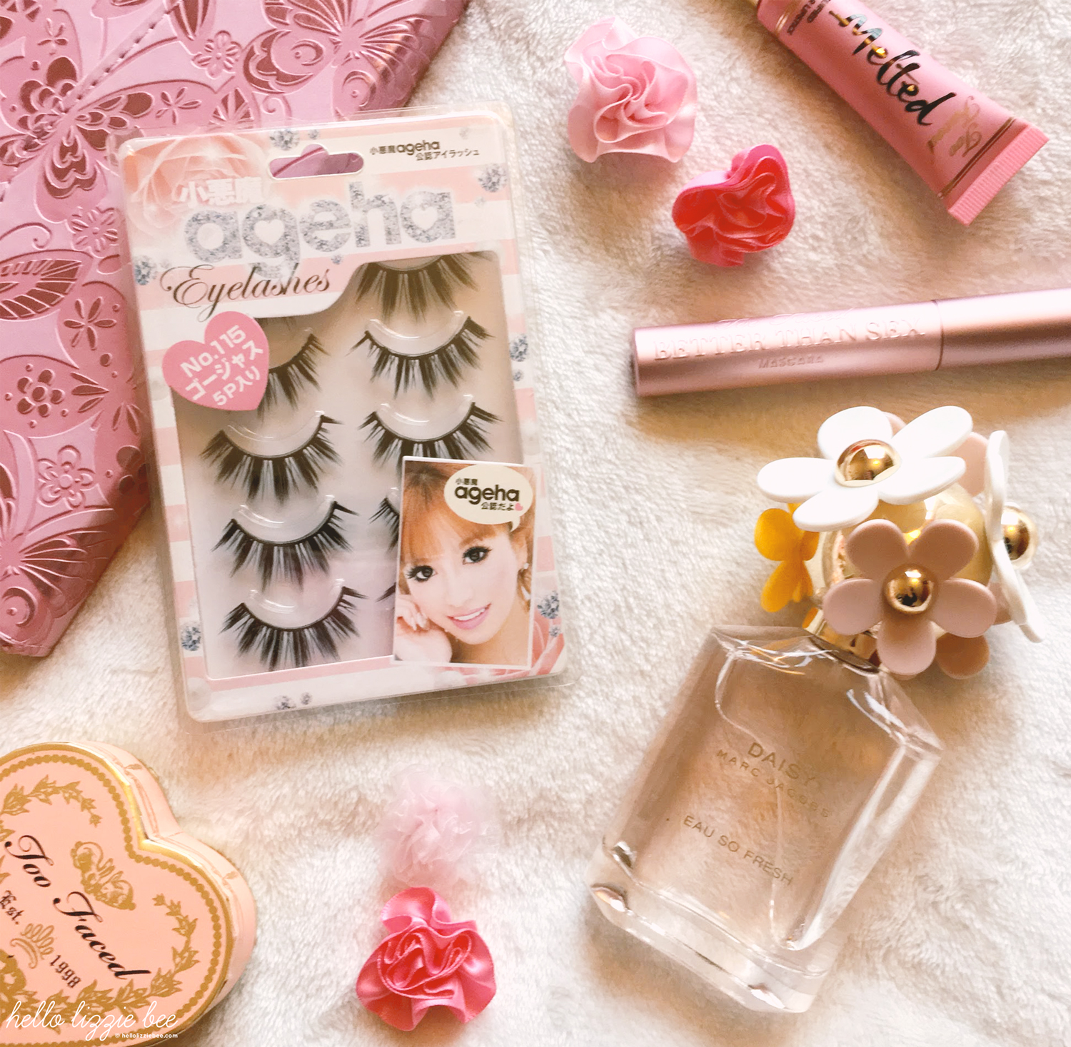 gyaru makeup essentials, false lashes