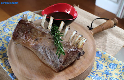 Carole's Chatter: Rack of Lamb with Mustard Sauce – Channelling Martha