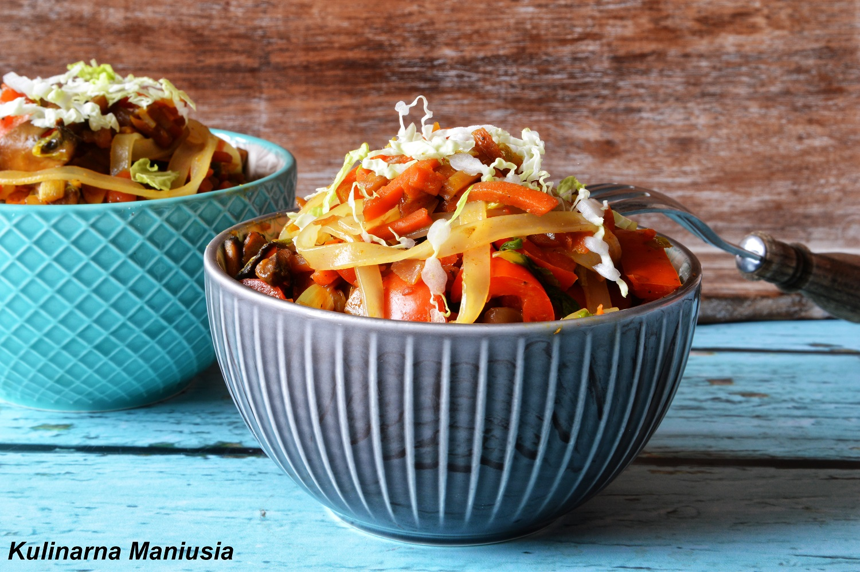 Makaron Ryżowy Z Warzywami Kulinarna Maniusia Blog
