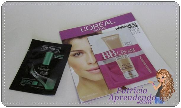 Amostras grátis TRESemmé Split Remedy e L'Oréal BB Cream