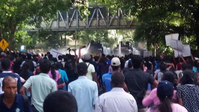 Tear gas and water cannons used to disperse protesters in Fort