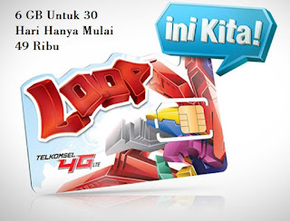 Kuota 4 Gb Plus 2 Gb Hanya 49 Ribu Simpati Loop 2016