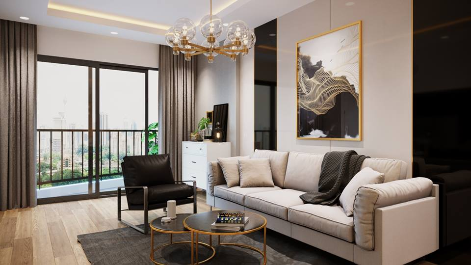 Nội thất căn hộ Sky View Plaza