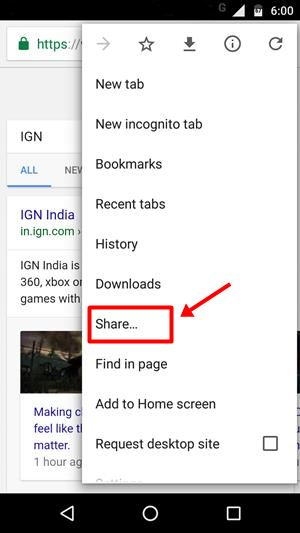 print pdf android chrome