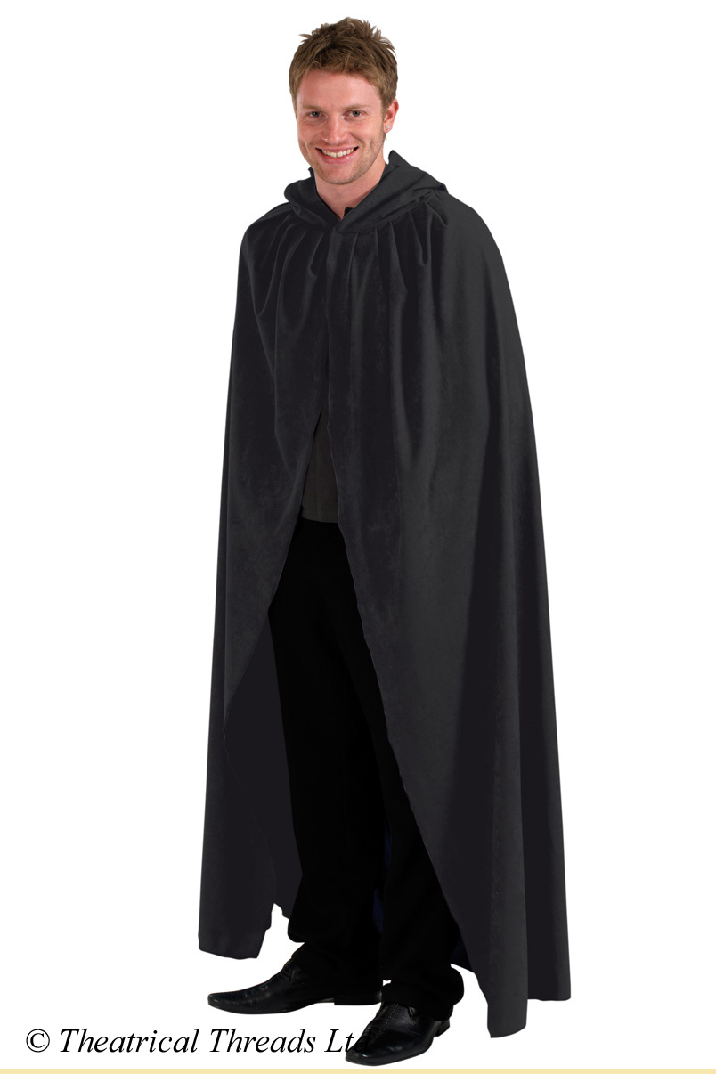 Black Hooded Cloaks for Adults